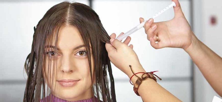 нанесение ботокса для волос